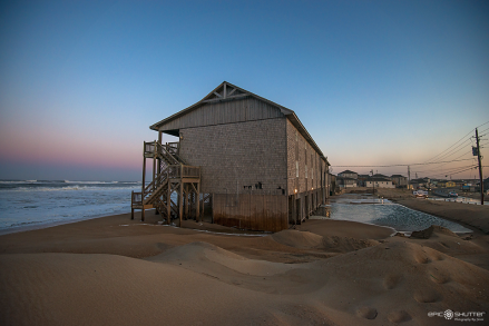 Angry Atlantic meets route 12 once again at Sunset, Cape Hatteras Motel's, Buxton, NC, April 17, 2016, Epic Shutter Photography, Hatteras Island Photographer, Island Weather, Island Life, Angry Ocean, Route 12, Cape Hatteras National Seashore, Cape Hatteras Photographer, Atlantic Ocean, Sunset, Flooding,