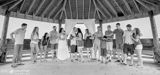 Nags Head, Weddings, Outer Banks Weddings, OBX Weddings, OBX Wedding Photographer, Tale of the Whale, Gazebo, Epic Shutter Photography, Smile and Wave. One Epic Shutter at a Time., Family, Friends, Bride and Groom, OBWA, Outer Banks Wedding Association, Outer Banks Wedding Association Photographers, Wedding Photographer, Weddings, Wedding Photos, Fun Wedding Photos, Casual Wedding, Casual OBX Wedding