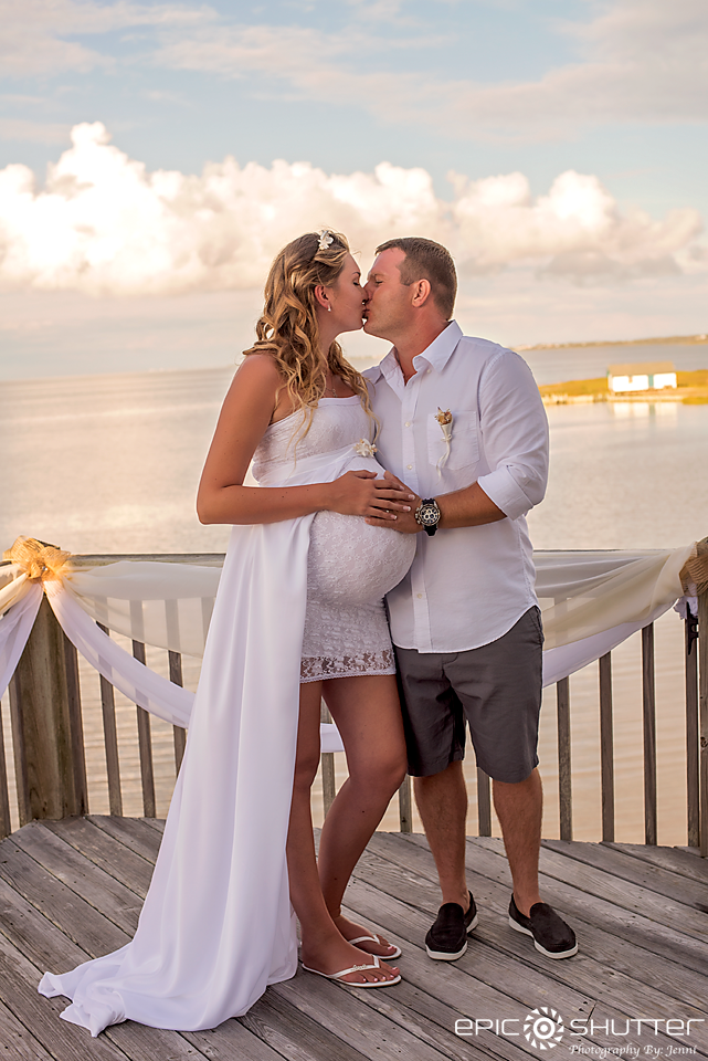wedding photography bride groom pregnant maternity pamlico sound obx weddings obwa outer banks wedding association epic shutter photography