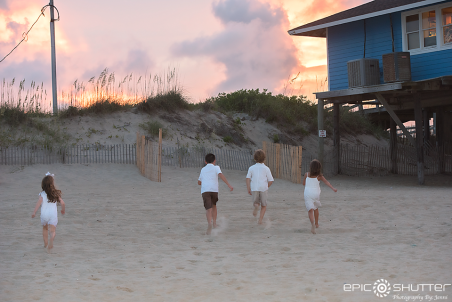 Family Portraits, Avon, Avon Fishing Pier, Sunset,Hatteras Island, North Carolina, Outer Banks Photographers, OBX Family Photographers, Hatteras Island Photographers, Cape Hatteras National Seashore, Pray for the Furbee Family, Epic Shutter Photography