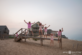 Cape Point Retreat, Buxton, Hatteras Island, North Carolina, Epic Shutter Photography, Family Vacation, Family Photos, Family Portraits, Childrens Portraits, Pink for Breast Cancer Awareness, Outer Banks Photographers, Hatteras Family Photographers, Children's Beach Portraits, OBX Family Photographers