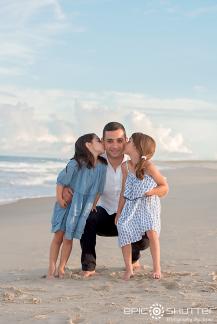 Family Portrait's; Sunset; Buxton; Hatteras Island; North Carolina; Cape Hatteras National Seashore; Old Lighthouse Beach; Cape Hatteras Lighthouse; Epic Shutter Photography; Outer Banks Photographers; Hatteras Island Family Photographers; OBX Photographers; Outer Banks Family Vacation