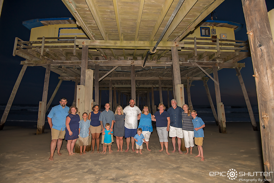 Family Portraits, Epic Shutter Photography, Family Vacation, Frisco Pier, Frisco, Hatteras Island Photographers, Outer Banks Photographers, Children's Beach Portraits, Family Photos