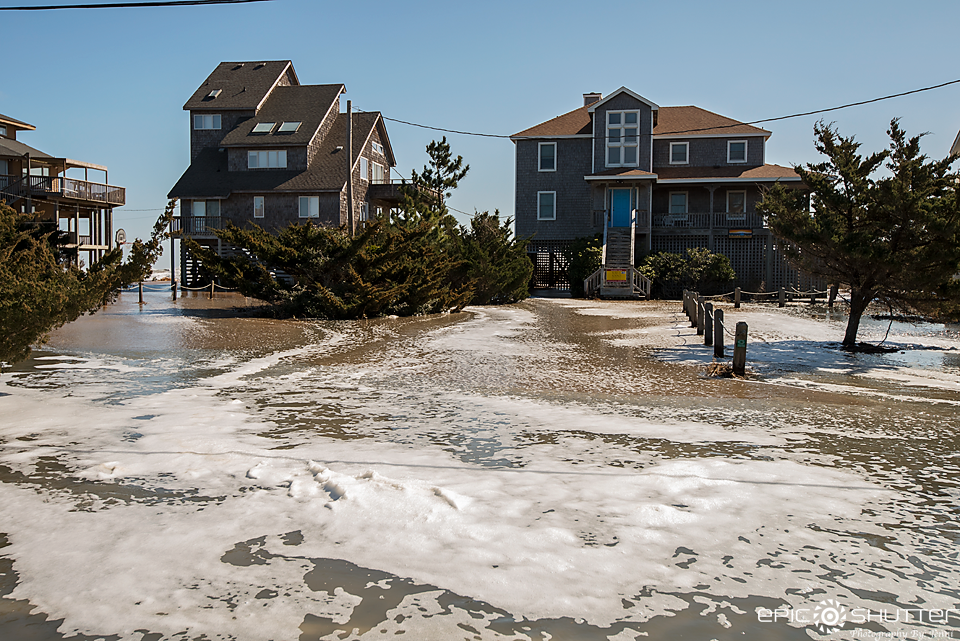 Winter Storm Riley, Avon, North Carolina, Flooding, Epic Shutter Photography, Documentary Photography, Outer Banks Photographers, Hatteras Island Photographers, Outer Banks News, Weather, Angry Ocean