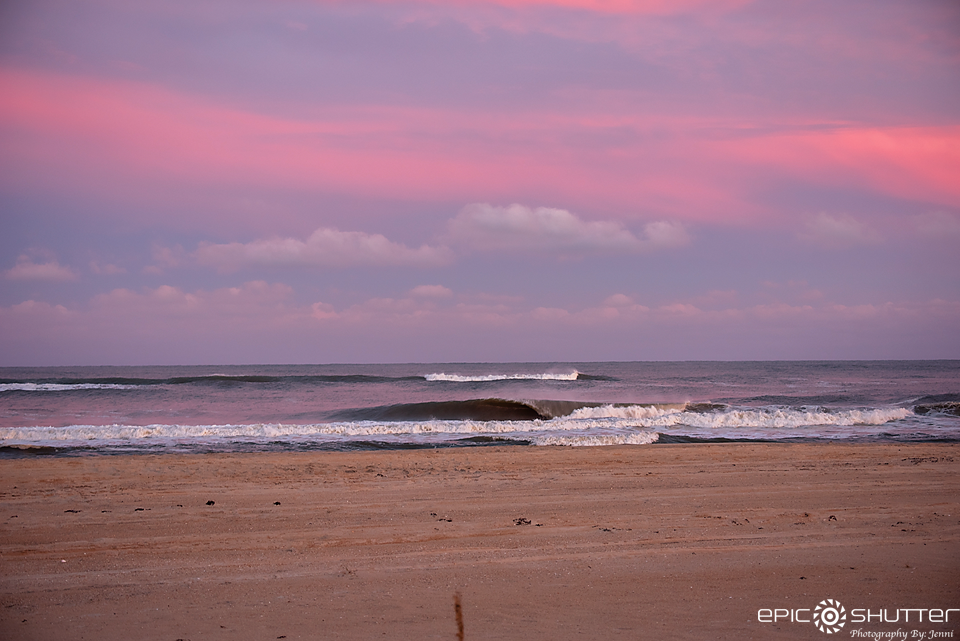 Epic Sunset, Epic Shutter Photography, Avon, Hatteras Island Photographers, North Carolina, Cape Hatteras National Seashore, Outer Banks Photographers, OBX Photographers, Waves, South Swell, Barrels, Surfing, Surf Photography