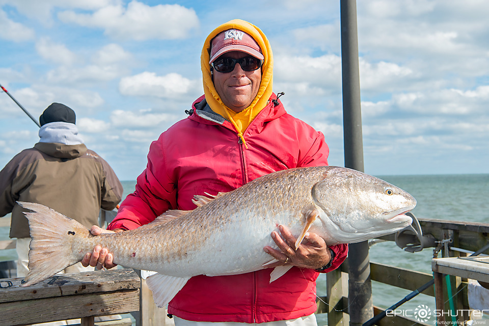 Pat Bracher, Drum Fishing, Citation, Red Drum, Epic Shutter Photography, Avon Fishing Pier, Avon, North Carolina, Epic Shutter Photography, Outer Banks Fishing, Cape Hatteras National Seashore, Fishing, Fisherman, Anglers, Pier Fishing