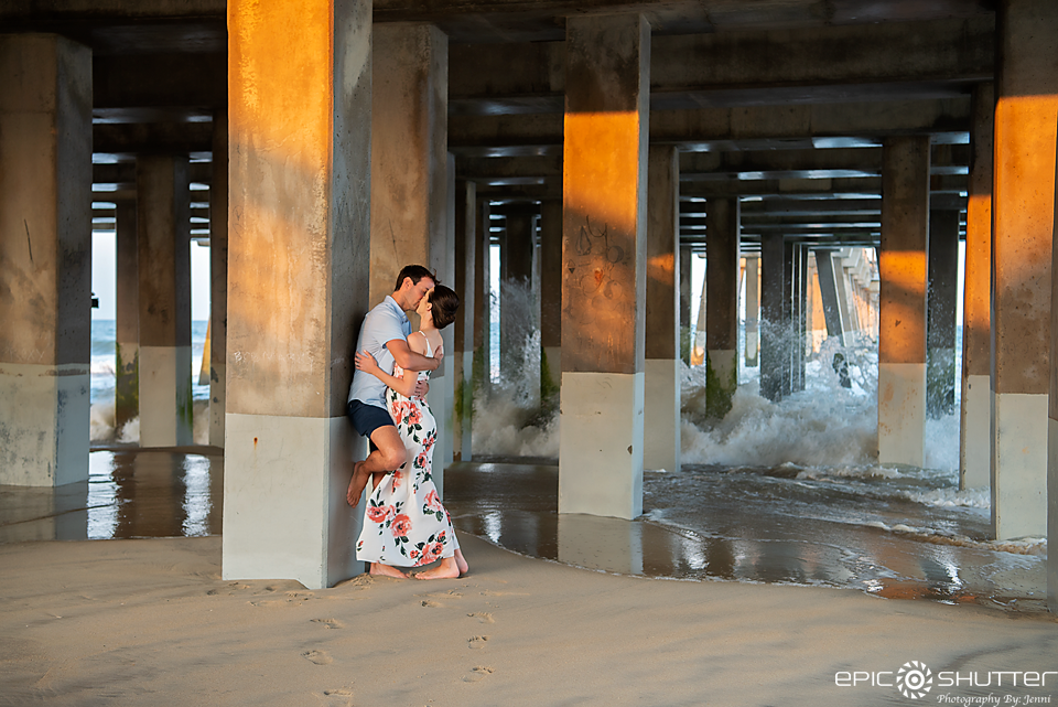 Epic Shutter Photography, Outer Banks Photographers, Portraits, Sunset, Moon Rise, OBX Vacation, Anniversary Portraits, Jennette's Pier, Nags Head, North Carolina, Hatteras Island Photographers