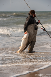 Travis Kemp, Red Drum Fishing, Cape Point, Outer Banks Documentary Photographer, Buxton, North Carolina, Hatteras Island, Cape Hatteras National Seashore, Fisherman, Fishing, Anglers, Epic Shutter Photography, Epic Fishing, Fishing Rods