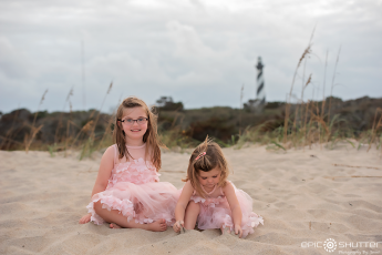Family Portraits, Cape Hatteras Lighthouse, Cape Hatteras National Seashore,Epic Shutter Photogrpahy, Family Photos, Sunset, Children's Beach Portraits, Buxton, North Carolina, Outer Banks Photographer, Hatteras Island Photographer, OBX Family Photographer