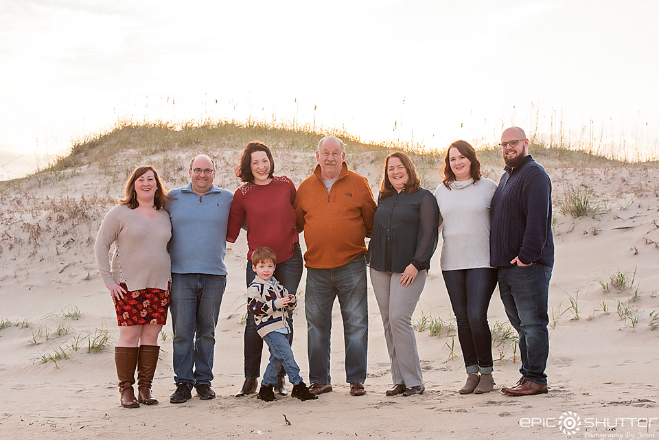 Hatteras Island Photographer, Outer Banks Photographer, Family Portraits, Family Photos, Sunset, Avon, North Carolina, Epic Shutter Photography, Family Beach Photos, OBX family Photographer, Cape Hatteras Family Photographer