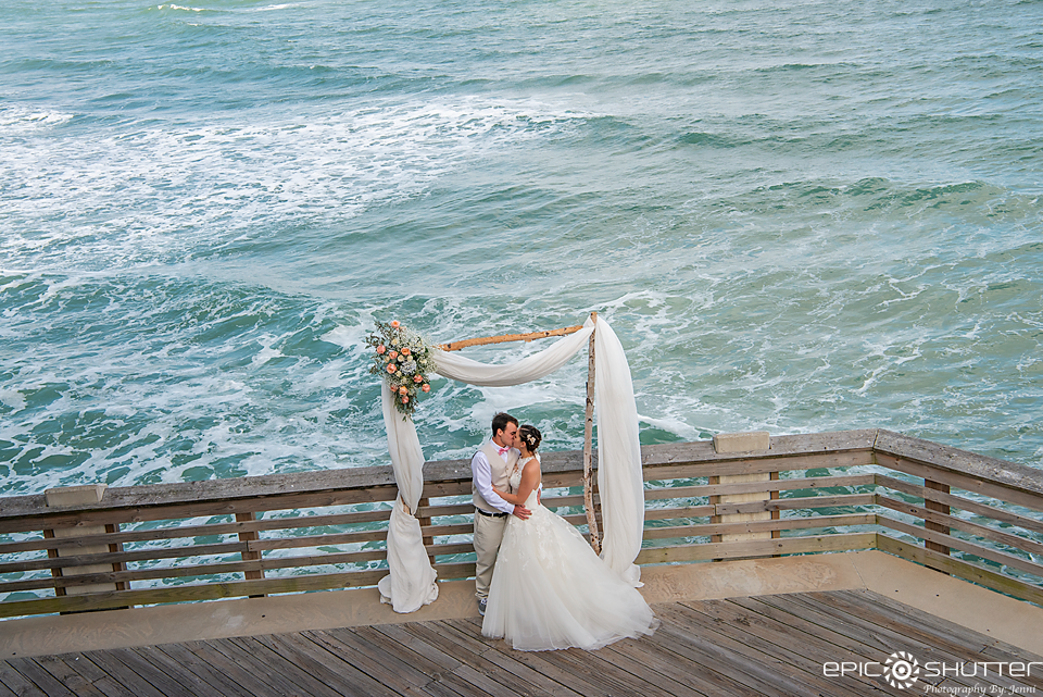 Wedding Photography, Outer Banks Weddings, Epic Shutter Photography, Jennette's Pier, Nags Head, North Carolina, Bride, Groom, Wedding Dress, Wedding Rings, Outer Banks Wedding Photographers, Hatteras Island Wedding Photographers, Married on a Sandbar