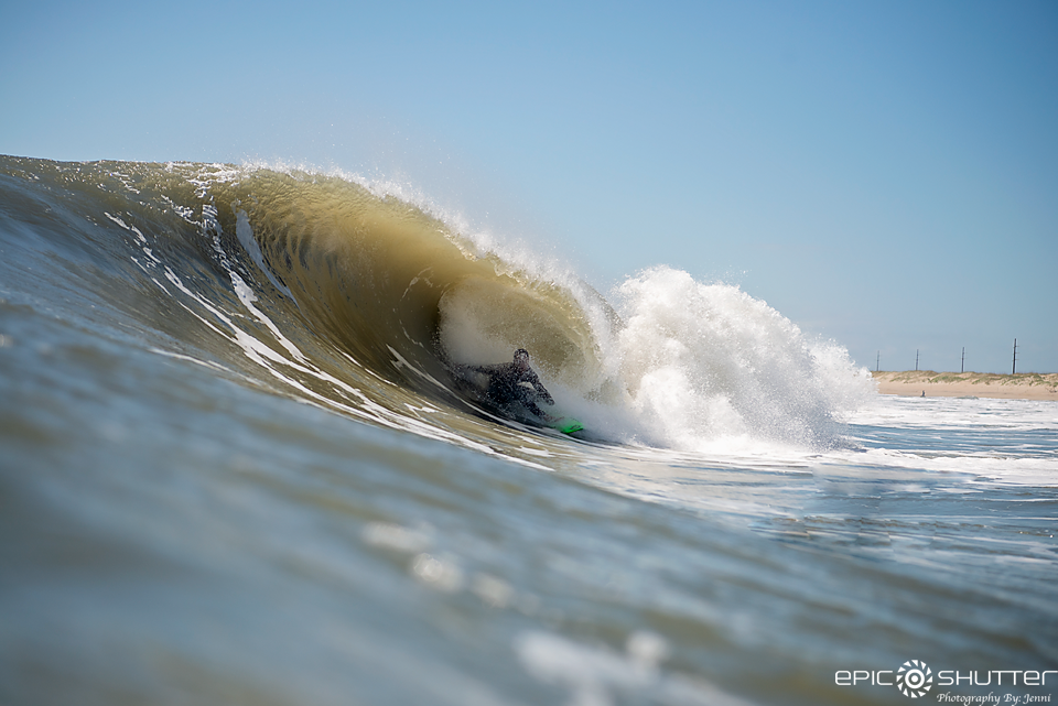 Dallas Tolson, Surfing, Surf Photography, Outer Banks Photographer, AquaTech Imaging Solutions, Waves, Barrels, Spring, OBX, Cape Hatteras National Seashore, Buxton, Surfers, Swell, North Carolina, Epic Shutter Photography