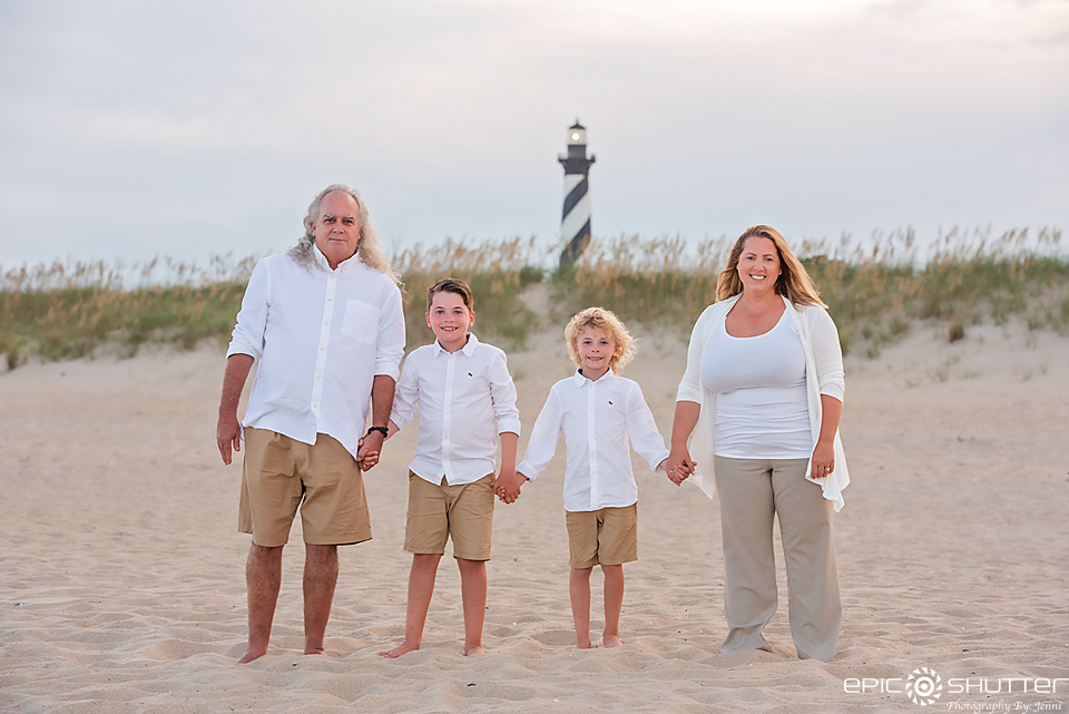 Family Portraits, Outer Banks Photographers, Epic Shutter Photography, Cape Hatteras Photographers, Hatteras Island, Buxton, North Carolina, Cape Hatteras Lighthouse, Family Beach Photos, Cape Hatteras National Seashore, OBX Family Vacation Photos