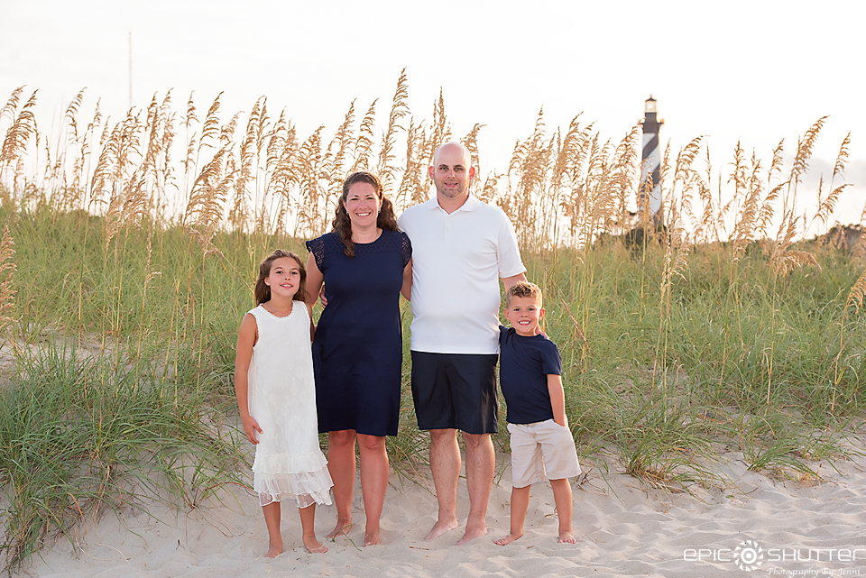 Lighthouse Family Portraits, Cape Hatteras Photographers, Outer Banks Photographers, Epic Shutter Photography, Sunset, Cape Hatteras Lighthouse Family Portraits, OBX Family Vacation Photos, Buxton, North Carolina, Hatteras Island Photographers