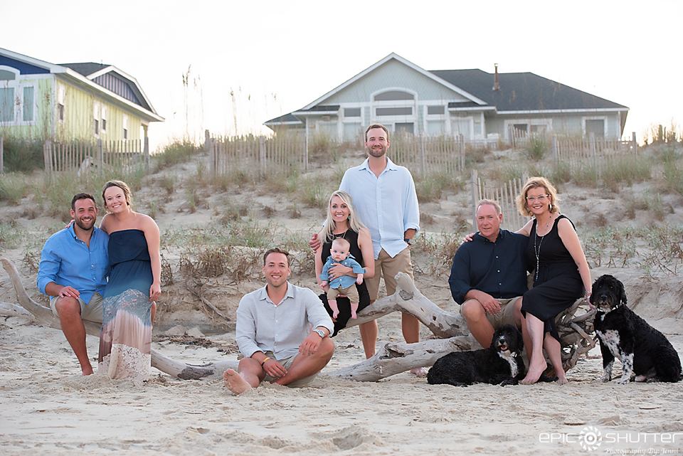 Family Portraits, Outer Banks Photographers, Cape Hatteras Photographers, OBX Photographers, Epic Shutter Photography, Outer Banks, North Carolina, Hatteras Island, Family Photos, Sunset, Children's Beach Photos