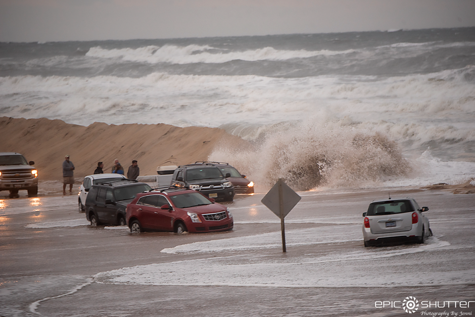 Route 12 Flooding, Nor'Easter, Subtropical Storm Melissa, Mirlo Beach, S Turns, Rodanthe, North Carolina, Epic Shutter Photography, Cape Hatteras Photographers, Outer Banks Photographers, OBX Photographers, Waves, Swell, Flooding, Cape Hatteras National Seashore Documentary Photographer
