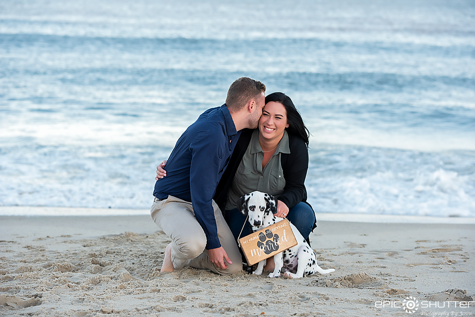 Outer Banks Photographer, Surprise Proposal, Engagement Portraits, Sunset, Avon, North Carolina, Dalmatian Puppy, Love, Hatteras Island Photographers, OBX Photographers, Cape Hatteras National Seashore, Cape Hatteras Photographers, Epic Shutter Photography, Engagement Ring, Engaged